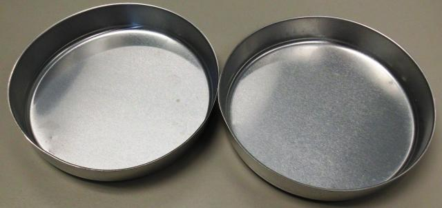 Aluminum pans post conditioning