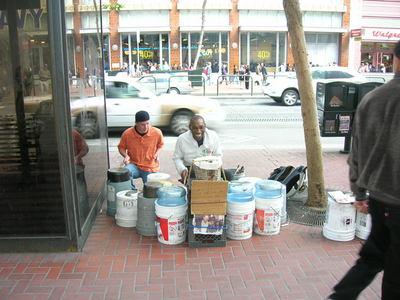 Drumming with my hero Bucketman