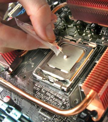 Dispensing Thermal Grease.  Image Courtesy of computershopper.com