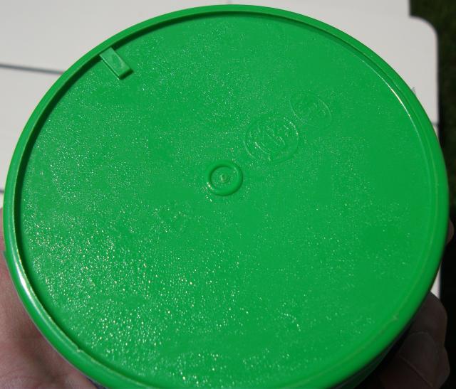 Condensation on bottom of cold paste jar