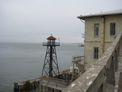 Alcatraz is a little spooky in the evening