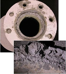 Indium TIMs are not susceptible to this type of metallic corrosion. Image courtesy of www.moonraker.com.au/techni/news2.htm
