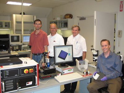 Pictured here from left to right is Jeff Schake (Dek), Klaus Klein (FRT), Mike Magee (HJM Precision), and me Jim Hisert (Indium)