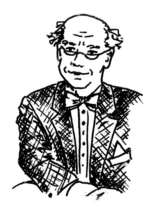 Patty's sketch of The Professor (with a little help from Jennifer Lasky Morvan)
